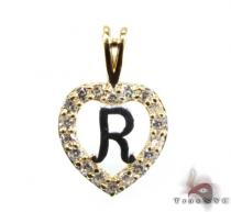 Golden R Pendant Metal
