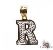 Initial R Pendant Metal