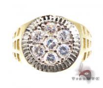 Mens Zeus Shield CZ Ring Mens Gold Rings