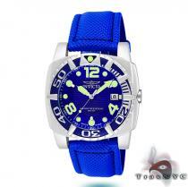 Pro Diver Aluminum QTZ Blue Mesh Invicta Watches