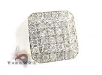 TraxNYC Light 10k White Gold Ring メンズ ダイヤモンド リング