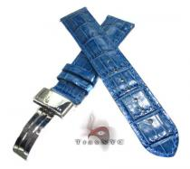 Aquamaster Dark Blue Leather Band 20mm Watch Accessories