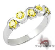 Ladies Yellow Tiara Ring Colored Diamond Rings