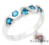 Ladies Blue Tiara Ring 2 カラー ダイヤモンド リング