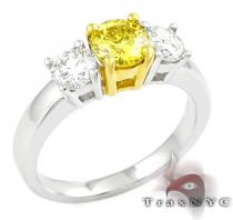 Two Tone Canary Centered Ring 2 カラー ダイヤモンド リング