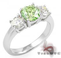 Ladies Green Fantasy Ring カラー ダイヤモンド リング
