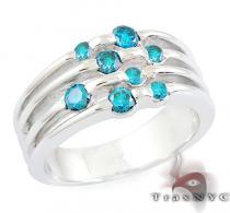 Ladies Blue Tension Ring カラー ダイヤモンド リング