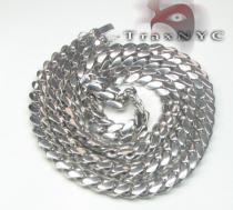 10k Solid White Gold Miami Chain 30 Inches 12mm Gold