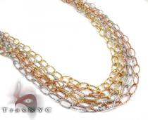 Three Tone Ladies Necklace Gold