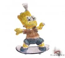 Custom Jewelry - Bart Simpson Pendant 2 Diamond Pendants