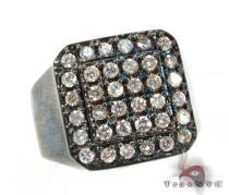 Mens Demanding 14K Black Rhodium Pinky Ring メンズ ダイヤモンド リング