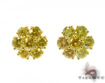 Canary Sunflower Earrings Diamond Earrings For Women