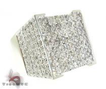 White Gold Mens Master Ring Mens Diamond Rings