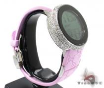 Ladies Pink Fully-Iced Gucci Watch Gucci