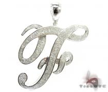 Initial F Pendant Diamond Pendants