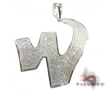 Graffiti W Pendant Diamond Initial Pendants