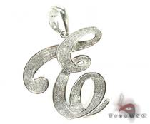 Iced E Pendant Diamond Pendants