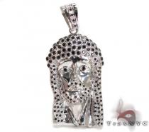 Black Diamond Jesus Piece Diamond Pendants